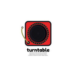 Template logo for turntable vector