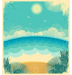 Vintage seascape vector image