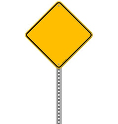 Empty yellow sign vector