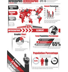 Infographics demographic element 11 red vector