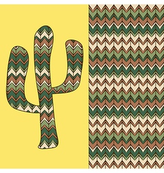 Background with cactus vector