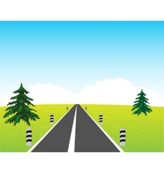 Road in field vector