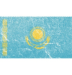 Flag of kazakhstan with old texture vector