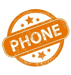 Phone grunge icon vector