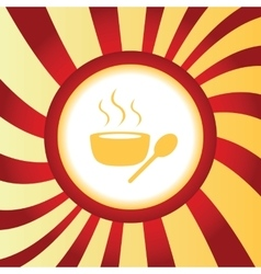 Hot soup abstract icon vector