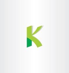 letter k green logo element vector image