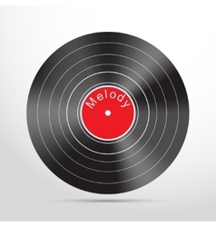 Vinyl record web flat icon vector