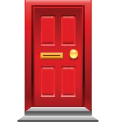 red door icon vector image
