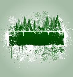 Winter forrest grunge vector