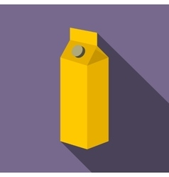 Milk or juice carton box flat icon vector