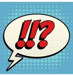 Questions exclamation marks comic book bubble text vector image