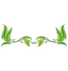 A green leafy border vector image vector image