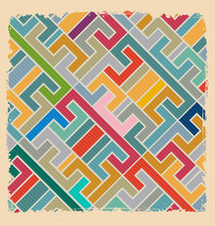 Abstract retro geometric backdrop textile vector