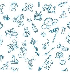 Background for little boys Hand drawn children vector image