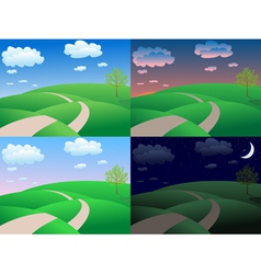calm summer landscape vector image