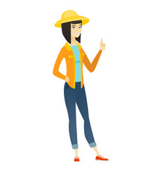 farmer giving thumb up vector image