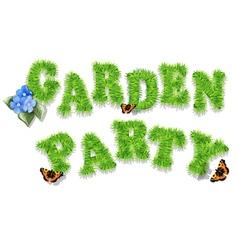garden party vector image vector image