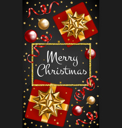 gift and baubles vector image
