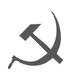 Hammer and sickle sign vector