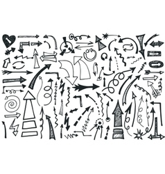Hand draw arrows set doodle vector
