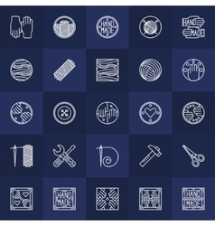 Hand-made icons set vector