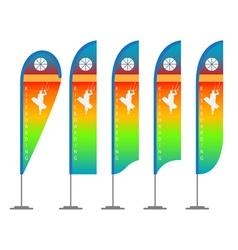 Kite flag vector