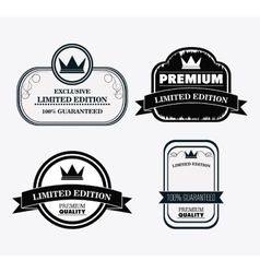 Label icon set Premium and Quality design vector image