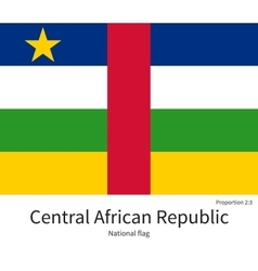 National flag of central african republic with vector