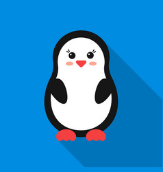 penguin flat icon for web and mobile vector image