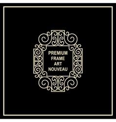 Premium Art Nouveau frame vector image