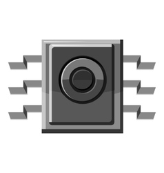 Spy microchip icon gray monochrome style vector
