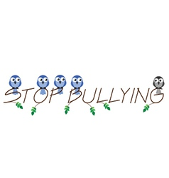 STOP BULLYING vector image