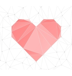 Triangular heart background vector