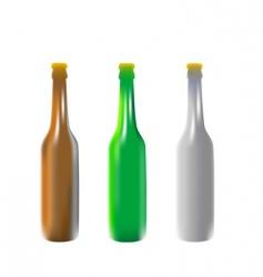 vector illustration beer bottles vector image