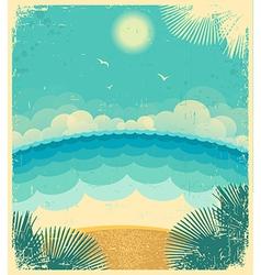 Vintage seascape vector image vector image
