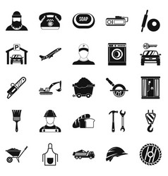 Working progress icons set simple style vector