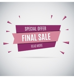 Special offer sale tag discount isolated on gray vector