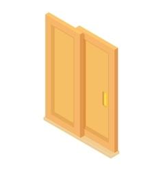 Door coupe icon cartoon style vector