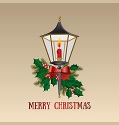 Christmas card Christmas lamp vector image