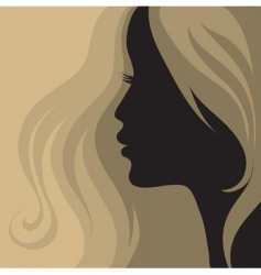 closeup vintage woman vector image