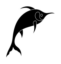 marlin fish icon in black style isolated on white vector image