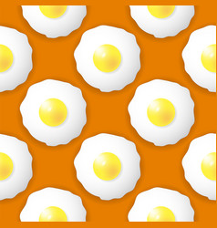 fried eggs seamless pattern vector image