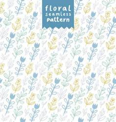Gentle field flowers pattern vector image