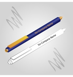 Set of 2 pens isolated on ligh background vector