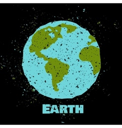 Grungy earth poster vector