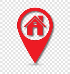 Home pin pointer vector