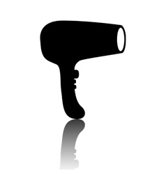 Hair dryer hairdresser symbol - vector