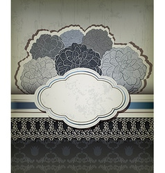 Vintage blue backdrop with frame vector