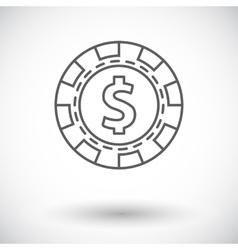Gambling chips icon vector