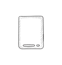 Touch screen tablet sketch icon vector